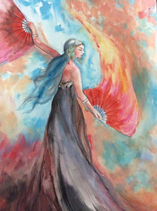 Gypsy Fan Dance - Sumes art