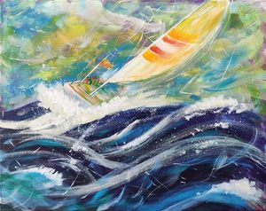 Yacht driven by Sea Winds 80x100