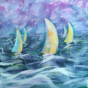 Regatta Sea Spirit Square Canvas 40