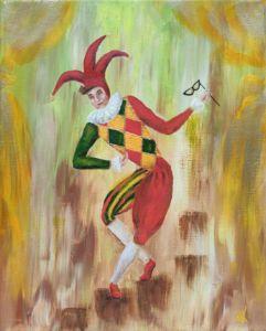Arlecchino Harlequin 30x24 Painting