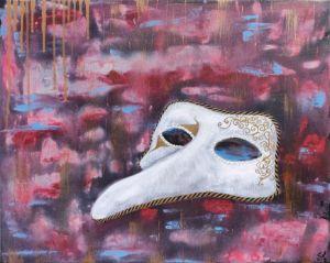 No Carnival. Venetian Mask 50x40 art