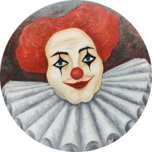 Bravo Clown Round Canvas 50 cm