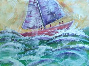 Sailboat on the Waves 30x40