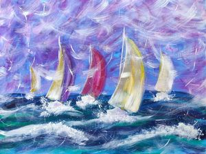 Sea Winds in Sails Big Regatta 60x80