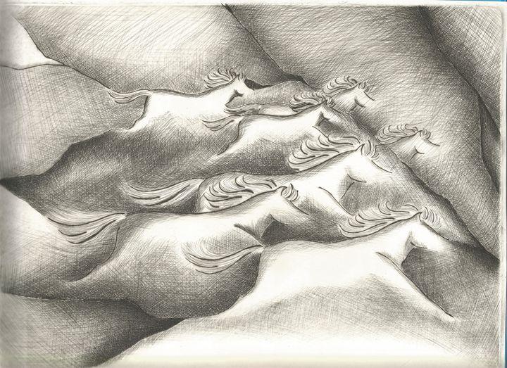 Cave Horses - Laura Marek