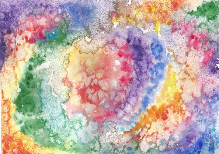 Watercolor Explosion - Artistic Aura by Laura