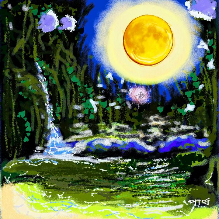 Moonlit night - partha pratim ghosh  partha's