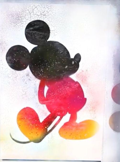 Mickey mouse disney - spray painting