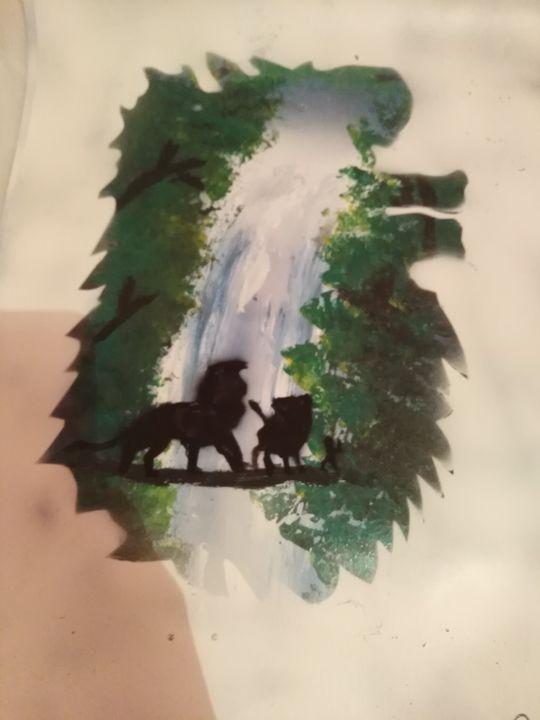 Disney lion king - spray painting