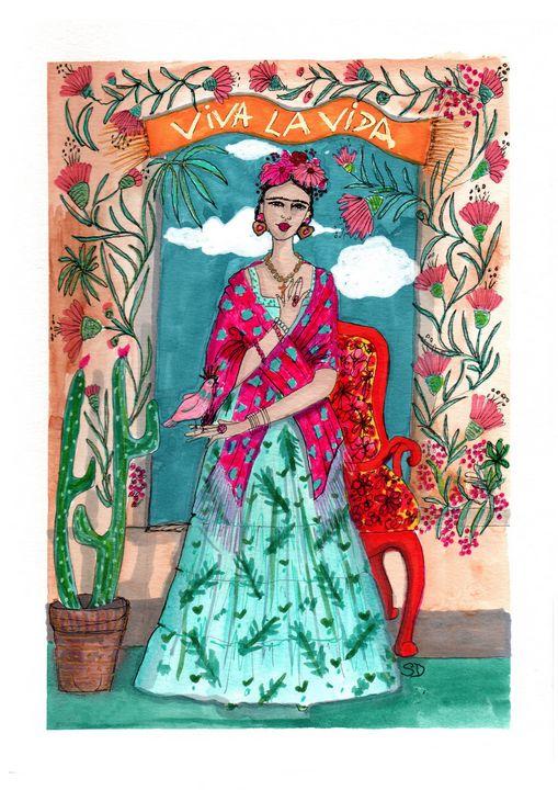 Frida Khalo Viva la vida - Mademoiselle Samantha