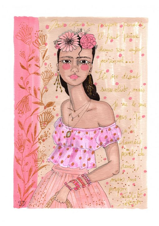 flower girl in pink - Mademoiselle Samantha