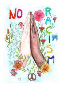 No racism hands