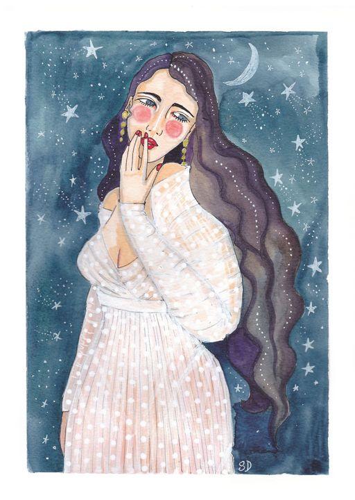 starry night girl - Mademoiselle Samantha
