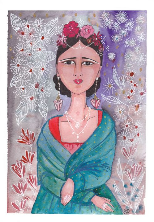 Frida in the flowers - Mademoiselle Samantha