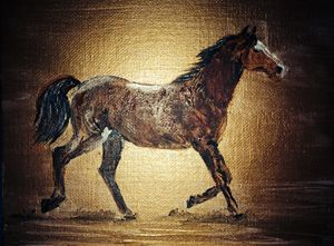 Horse in gold