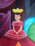 A princess daydreaming