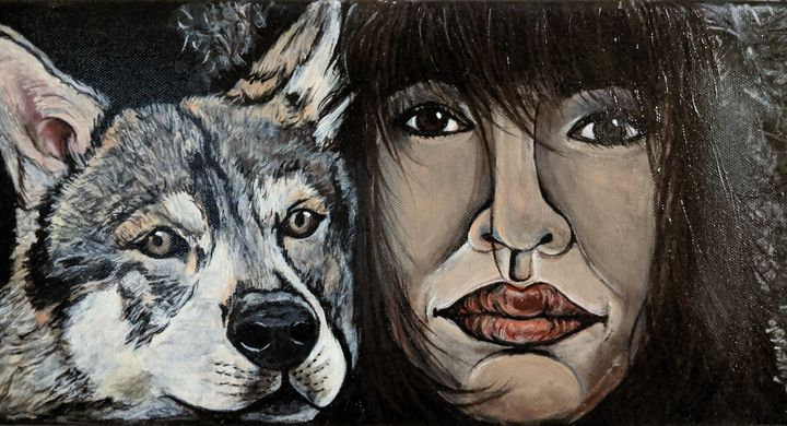 Woman and her wolf - Carolyne J Wilkie