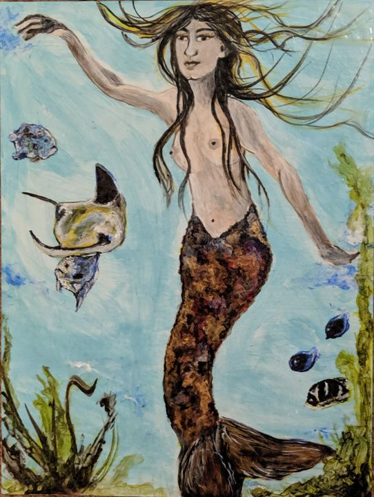 Swimming with the fish mermaid - Carolyne J Wilkie