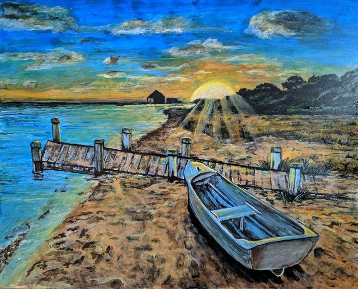 Sunset on the beach - Carolyne J Wilkie