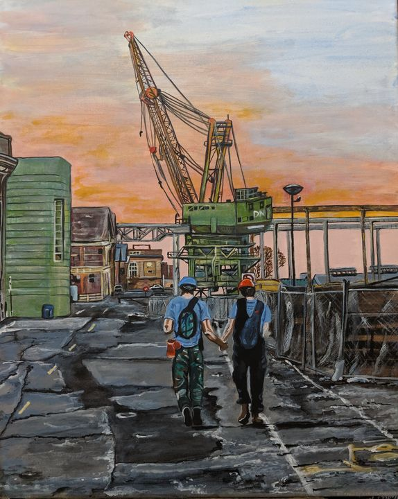 Working together shipyard - Carolyne J Wilkie