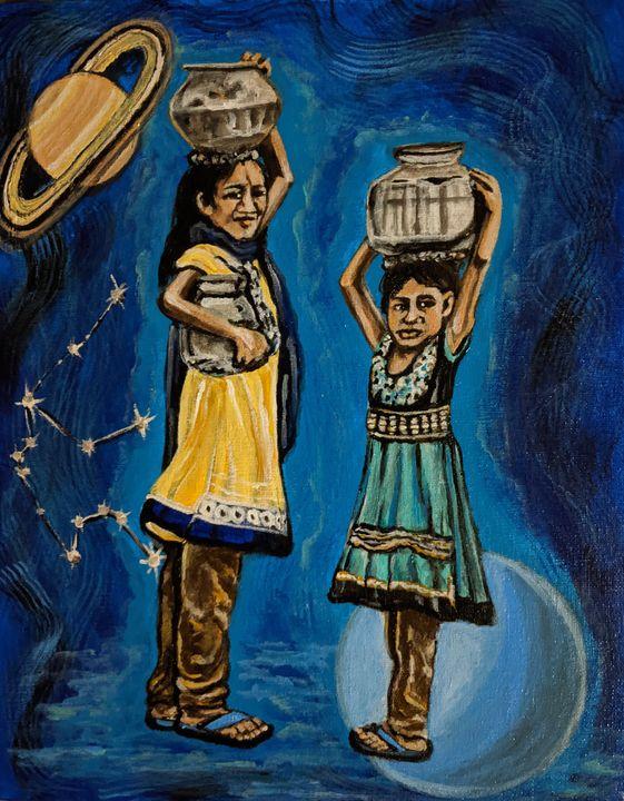 Aquarius, The water bearer - Carolyne J Wilkie