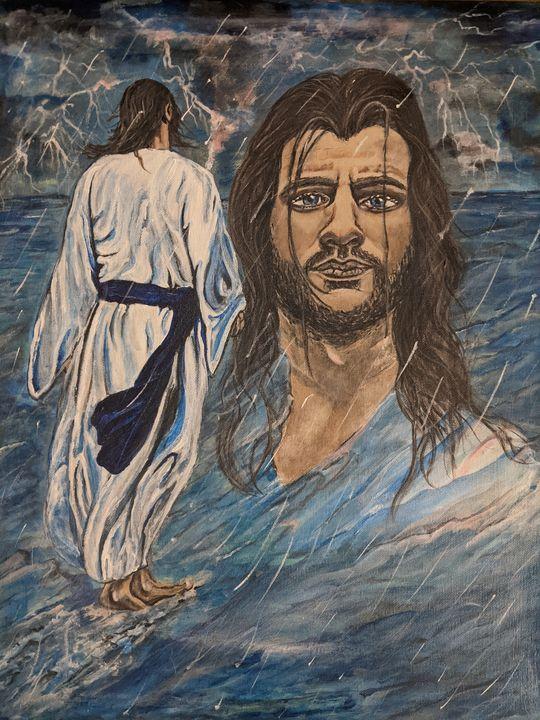 Jesus walking on water - Carolyne J Wilkie