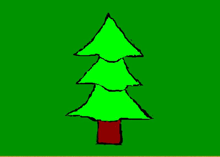 Green tree - Imperfectionist's Art