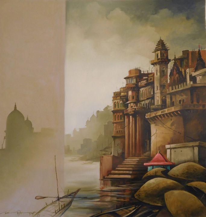Banaras, Oil on Canvas - ONLINE ART GALLERY