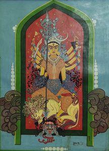 Durga, Tempera on Canvas