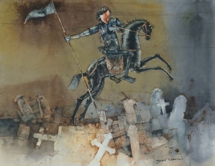 Victory, Watercolour on Paper - ONLINE ART GALLERY