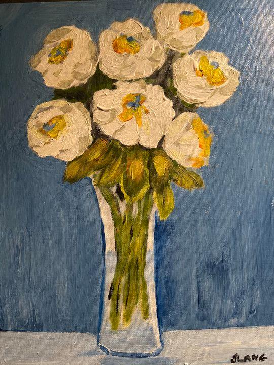 The White Garden Roses - Slang Artwork