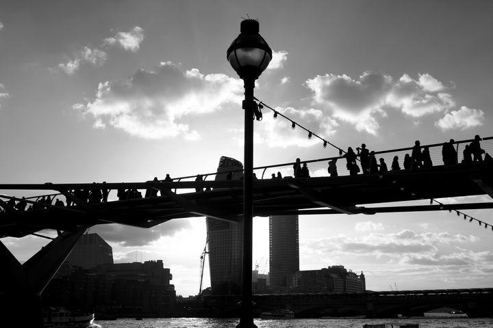 Millennium Bridge Silhouette, London - Aidan Moran Photography