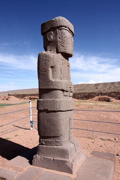Ponce Monolith, Tiwanaku, Bolivia - Aidan Moran Photography