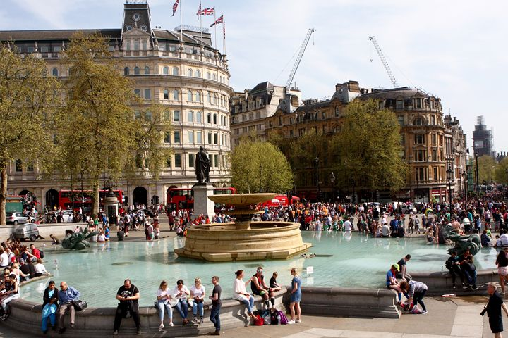 Water Fountain In Trafalgar Square - Aidan Moran Photography
