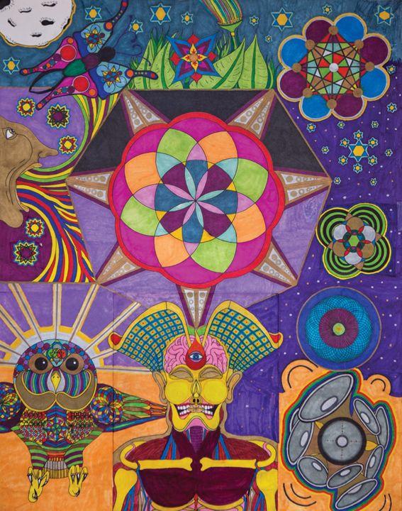 Land Of The Dream, Home Of The Brain - Tanner Bogard Art