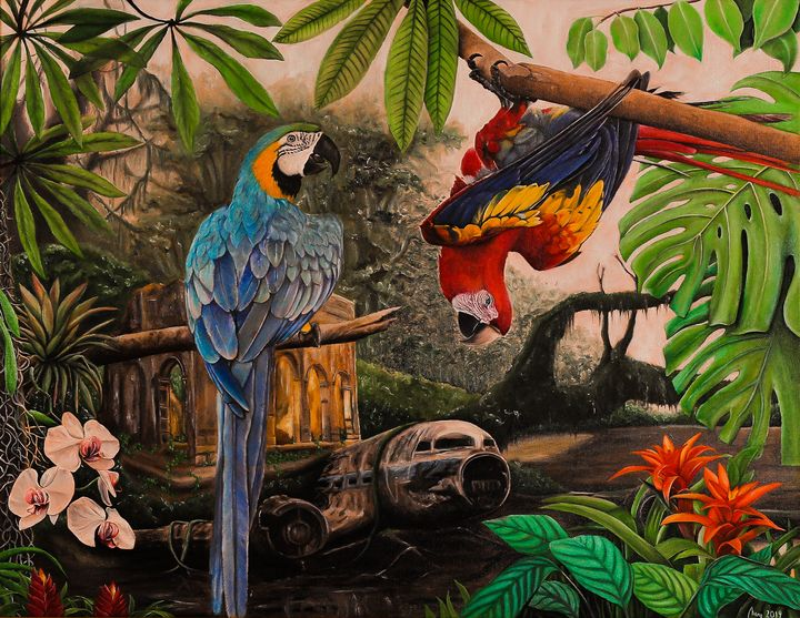 Macaws - Art by Mary