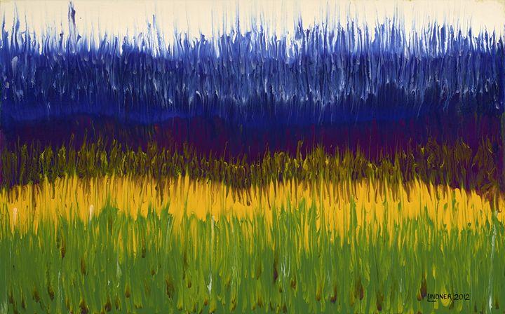 Field of Irises and Daffodils - Scott Lindner Art