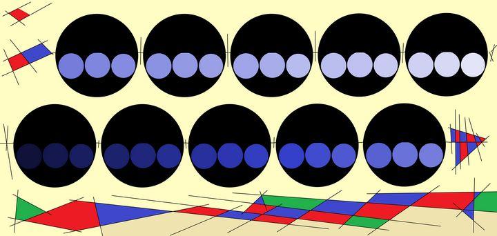 Blue Bowling Balls - Stewzart