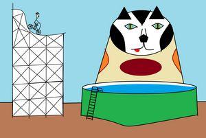 Cat In Circus Act - Stewzart