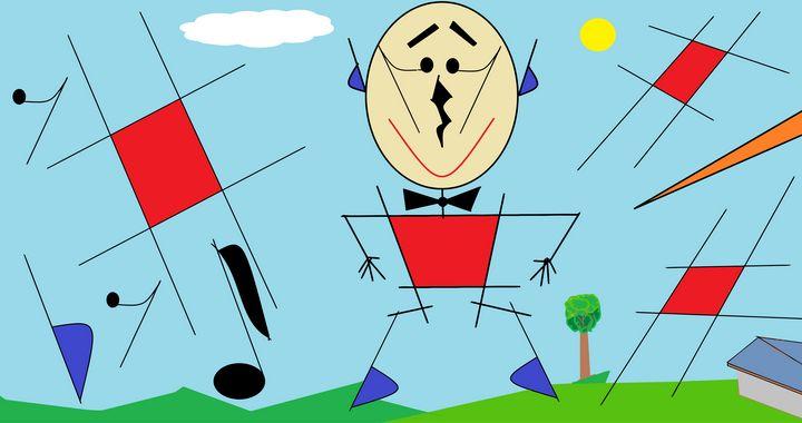 Happy Music Man Stewzart Digital Art Humor Satire Other