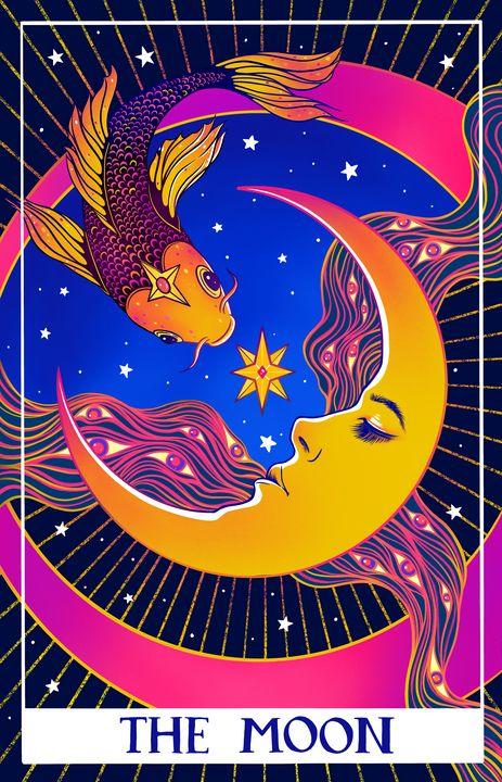 Tarot card. The Moon - MelazergArt
