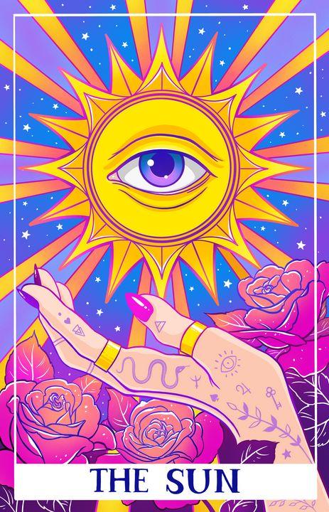 Tarot card. The Sun - MelazergArt