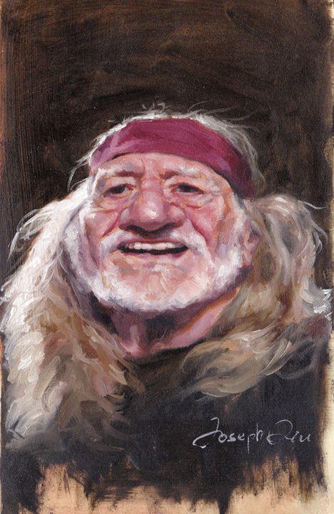 Willie Nelson caricature - Joseph Qiu ART