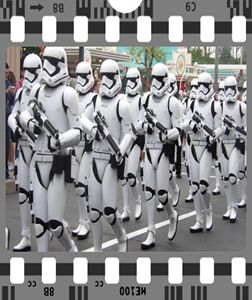 Stormtrooper marching Star Wars
