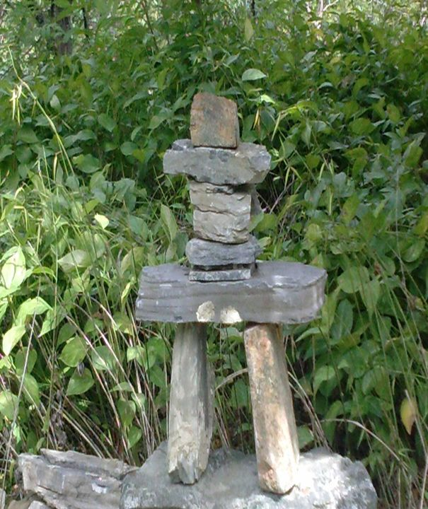 Inuksuk rocks in Canada - Fabulous Sammie