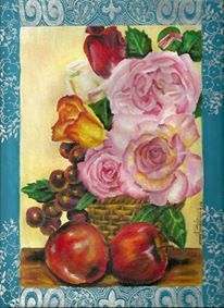 Flowers with apples