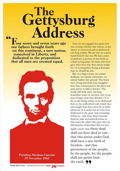 Gettysburg Address - Alan Levine