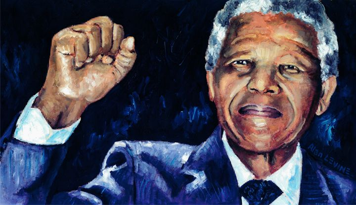 Mandela - Raised Fist - Alan Levine