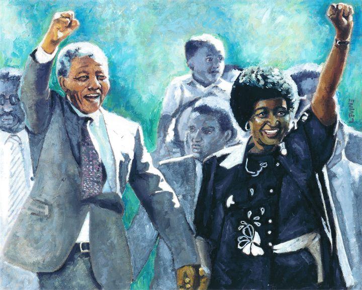Mandela - Leaving Prison - Alan Levine