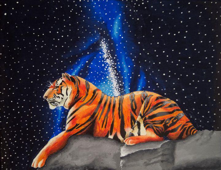 Tiger Profile - Asim's Art
